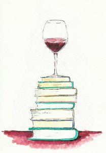 вино с книгами
